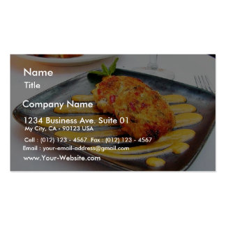 Food Crabcakes Dinner Double-Sided Standard Business Cards (Pack Of 100)