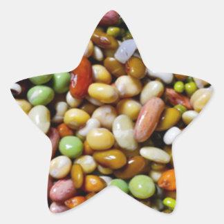FOOD Craft Junkies :  Exotic Beans Spectrum Star Sticker