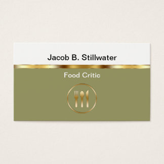 Food Critic Business Cards
