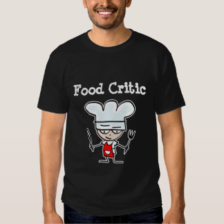 Food critic T-shirt with humorous cartoon chef