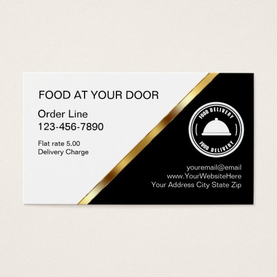 Food delivery business cards zazzle food delivery business cards reheart Image collections