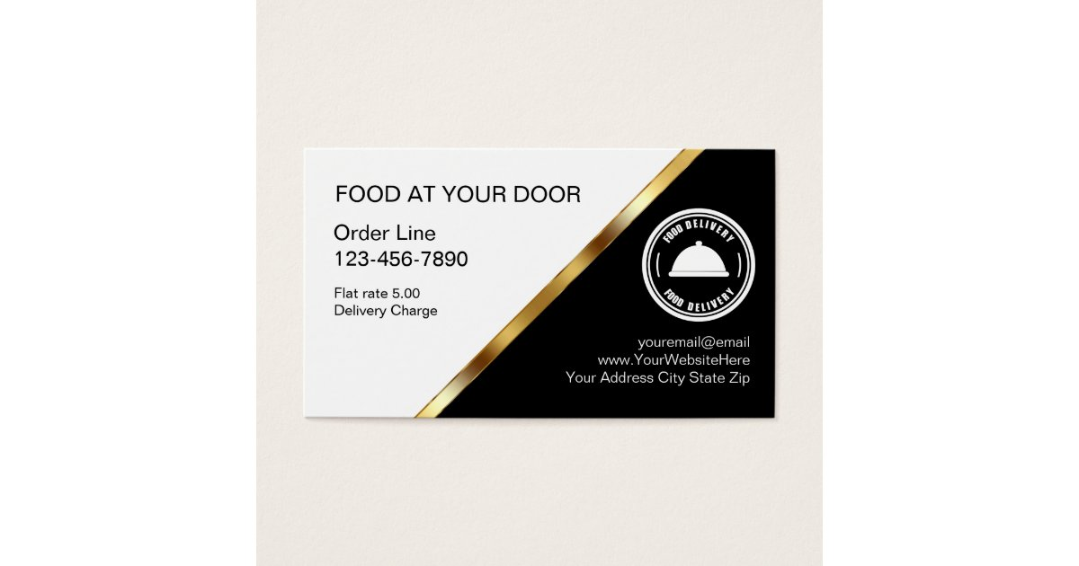 Food Delivery Business Cards & Templates | Zazzle