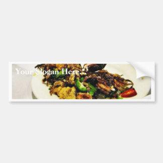 Food Dim Sum Squid Car Bumper Sticker