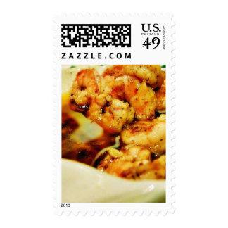 Food Dinner Scampi Postage Stamps