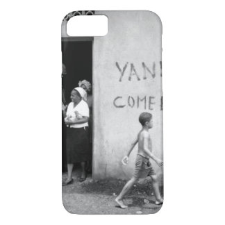 """Food distribution in front of """"Yankees _War Image iPhone 7 Case"""