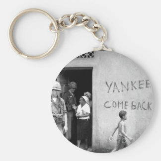 """Food distribution in front of """"Yankees _War Image Keychain"""