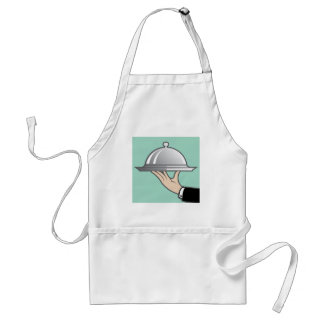 Food dome in hand adult apron