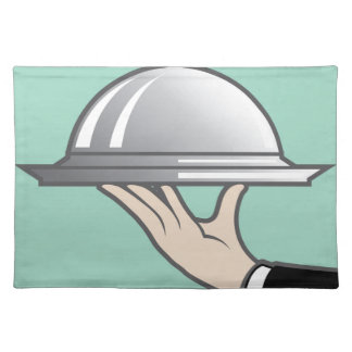 Food dome in hand cloth placemat