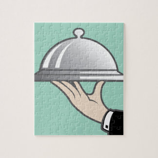 Food dome in hand jigsaw puzzle