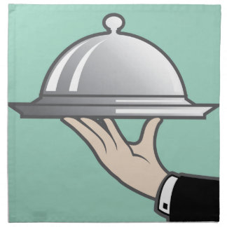 Food dome in hand napkin