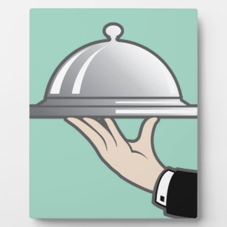 Food dome in hand plaque