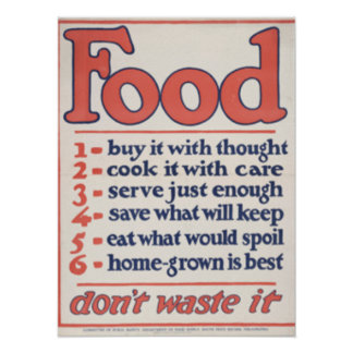 Food Don't Waste It (Poster) Poster