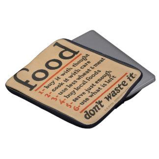 Food, Don't Waste It - Vintage War Poster Computer Sleeve