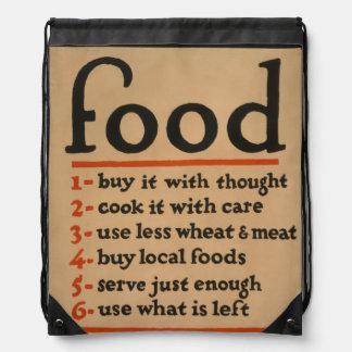 Food, Don't Waste It - Vintage War Poster Drawstring Backpack