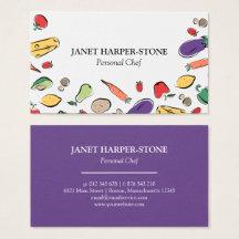 Chef business cards templates zazzle colourmoves