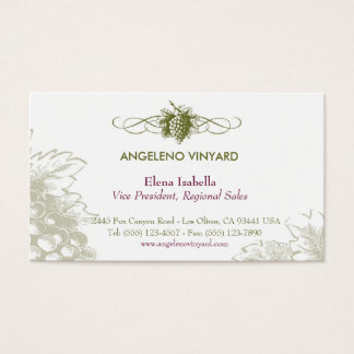 Food & Drink feat. Grapes Business Card