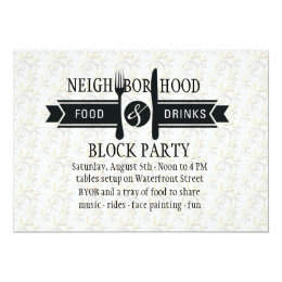 Food and drink invitations announcements zazzle food drinks invitation stopboris Image collections