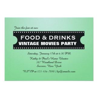 Food & Drinks Movie Strip Invitation