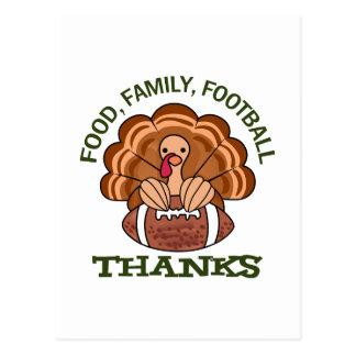 Food Family Football Postcard