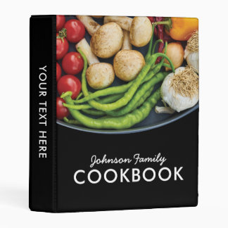 Food Family Kitchen Recipe Cookbook Mini Binder