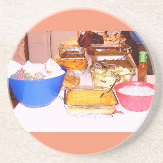 """""""Food Feast Coaster"""" Sandstone Coaster"""