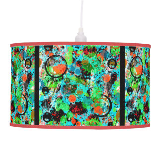 Food Fight Abstract Ceiling Lamp