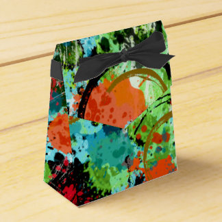 Food Fight Abstract Favor Box