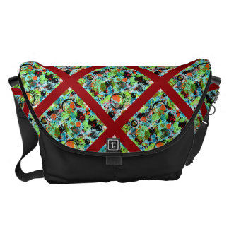 Food Fight Abstract Messenger Bag