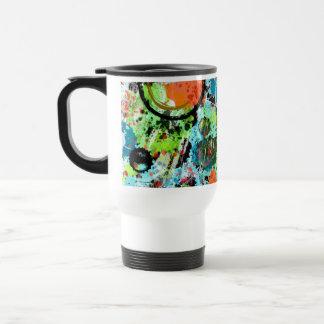 Food Fight Abstract Travel Mug