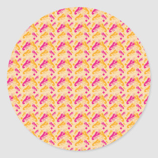 FOOD fight lobster fighting pattern Classic Round Sticker