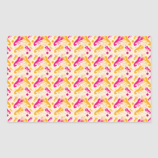 FOOD fight lobster fighting pattern Rectangular Sticker