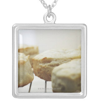 Food, Food And Drink, Biscuits, Butter, Bread, Silver Plated Necklace