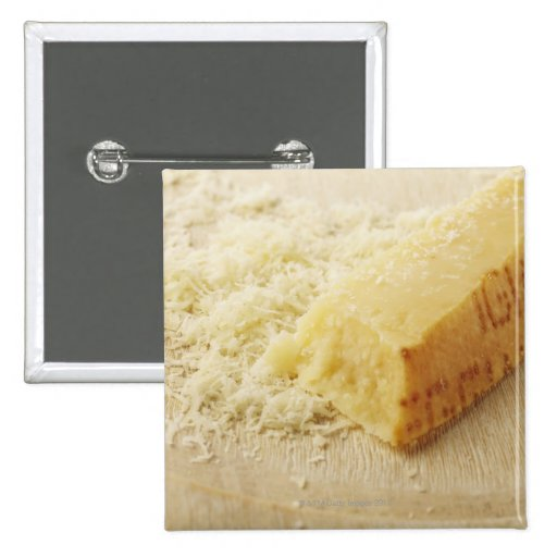 Food, Food And Drink, Cheese, Parmesan, Grated, 2 Inch Square Button