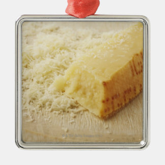 Food, Food And Drink, Cheese, Parmesan, Grated, Square Metal Christmas Ornament