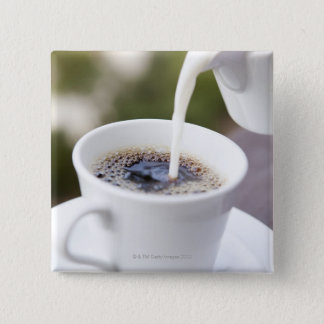 Food, Food And Drink, Coffee, Cream, Creamer, Pinback Button