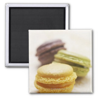 Food, Food And Drink, Dessert, Cookie, French, 2 Inch Square Magnet