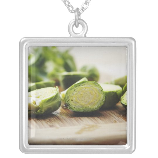 Food, Food And Drink, Vegetables, Brussel Silver Plated Necklace
