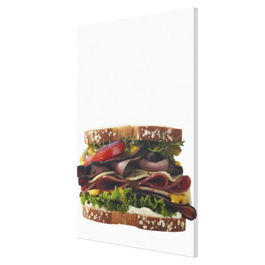 Food, Food And Drink, Wheat, Bread, Oat, Mayo, 2 Canvas Print