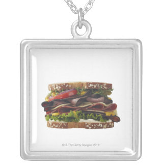 Food, Food And Drink, Wheat, Bread, Oat, Mayo, 2 Silver Plated Necklace