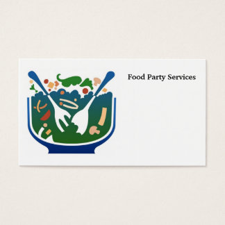 food, Food Party Services Business Card