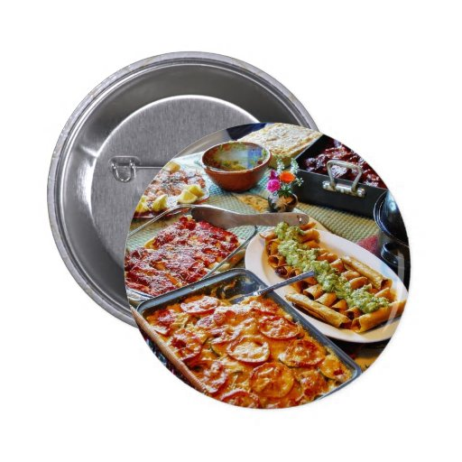 Food For Diner Pinback Buttons