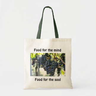 food for the mind, food for the soul canvas bags