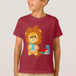 Food for Thought Cartoon Lion Children T-shirt
