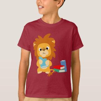 Food for Thought Cartoon Lion Children T-shirt