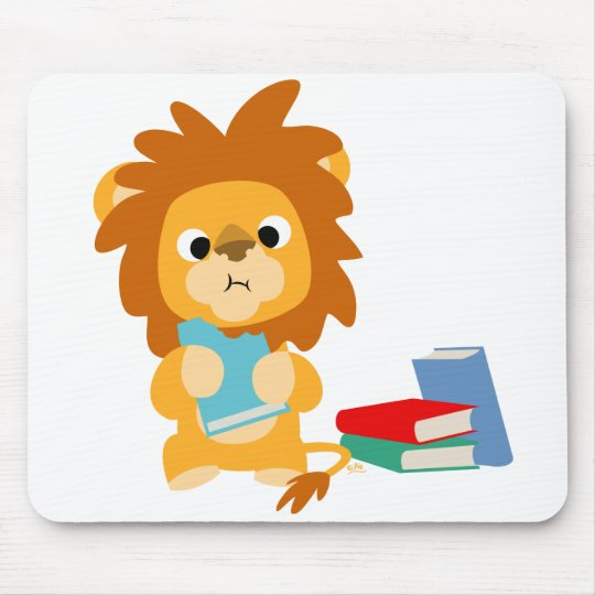 Food for Thought Cartoon T-shirt Mouse Pad