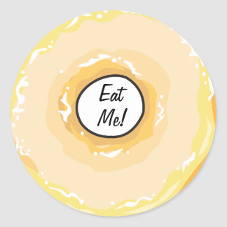 Food For Thought_Glazed Jelly Donut_Eat Me! Classic Round Sticker