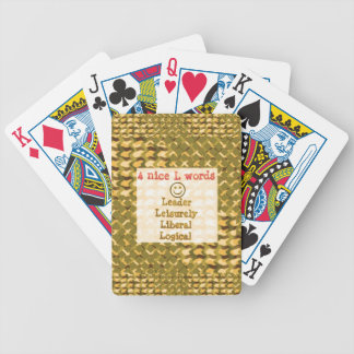 FOOD for THOUGHT: Leader, Logical,Liberal LOWPRICE Playing Cards