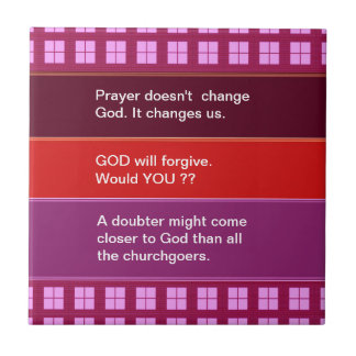 Food for thought : Practical Wisdom Words Ceramic Tile