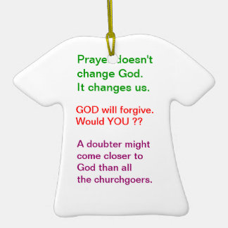 Food for thought : Practical Wisdom Words Double-Sided T-Shirt Ceramic Christmas Ornament