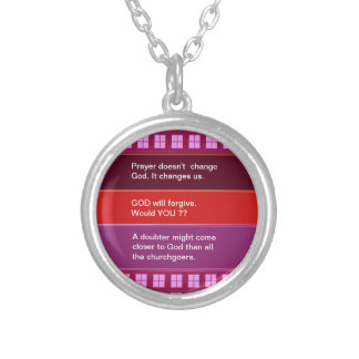 Food for thought : Practical Wisdom Words Silver Plated Necklace
